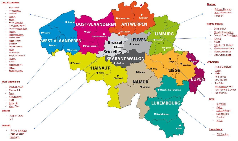New Kaart Belgie met leden
